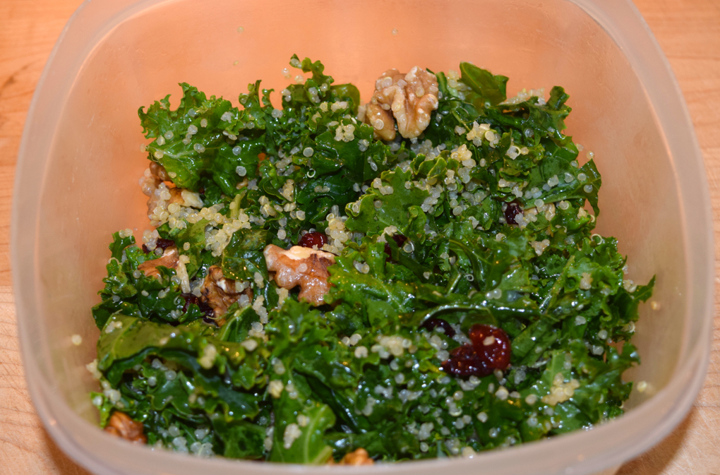 Photo of quinoa salad as an example how taking your lunch is less expensive than eating out