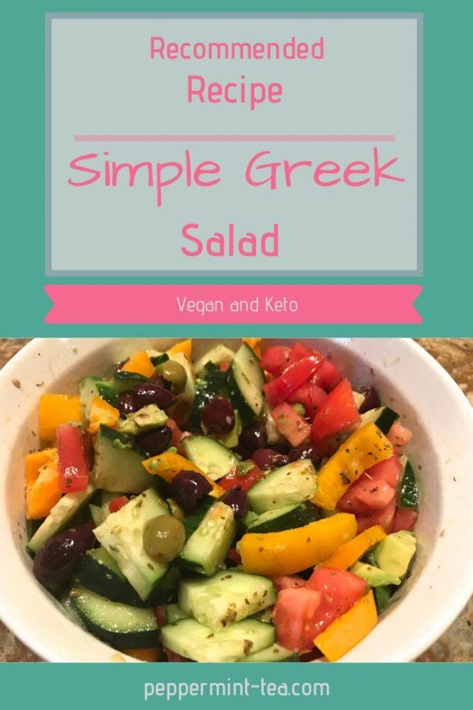 Simple Greek Salad (Dairy-Free)