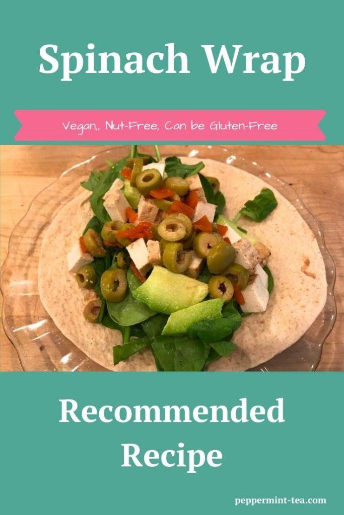 Spinach, Avocado and Tofu Wrap