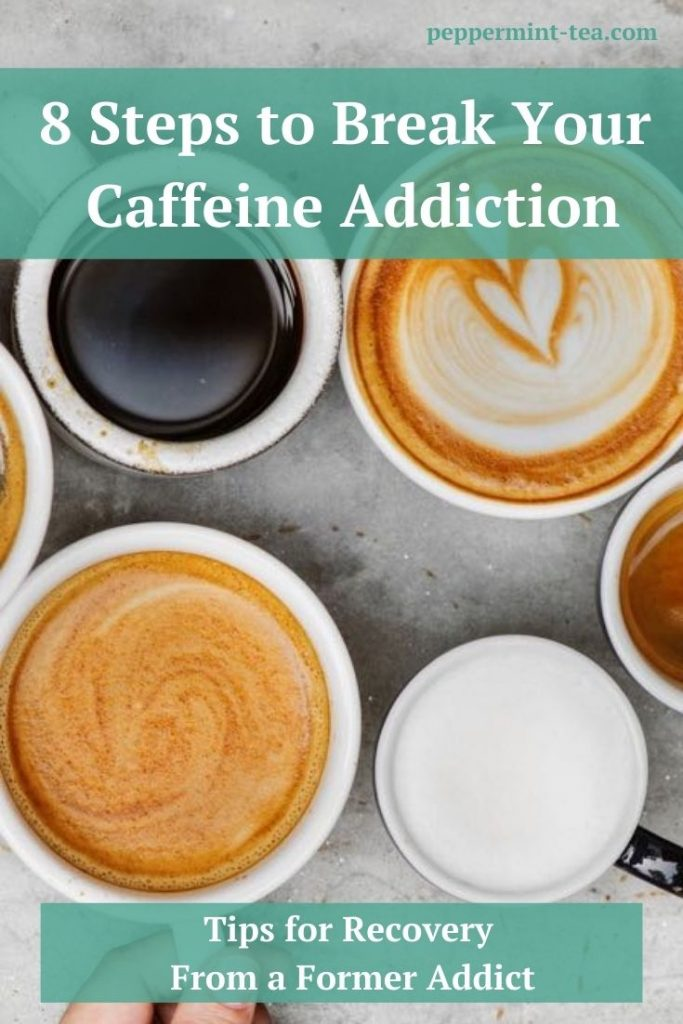 Photo of multiple cups of coffee sitting on a counter as an example of caffeine addiction