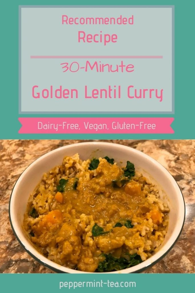 30-Minute Golden Lentil Curry with Sweet Potatoes and Kale