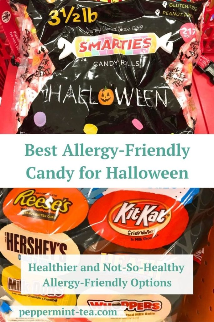 Images that show some of the allergy-friendly halloween candy