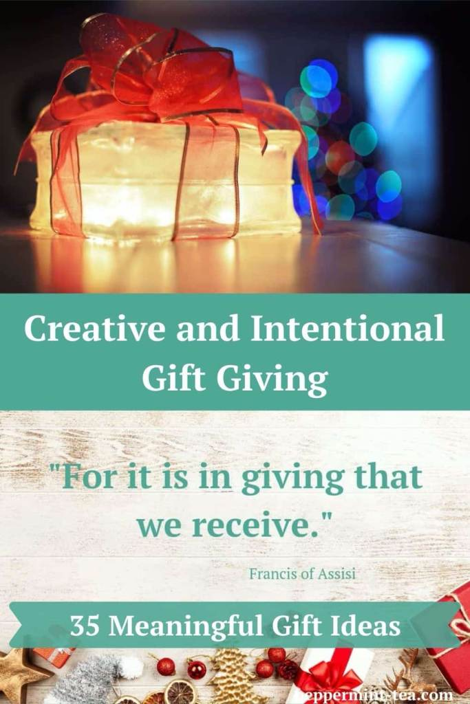 Creative and Intentional Gift Giving