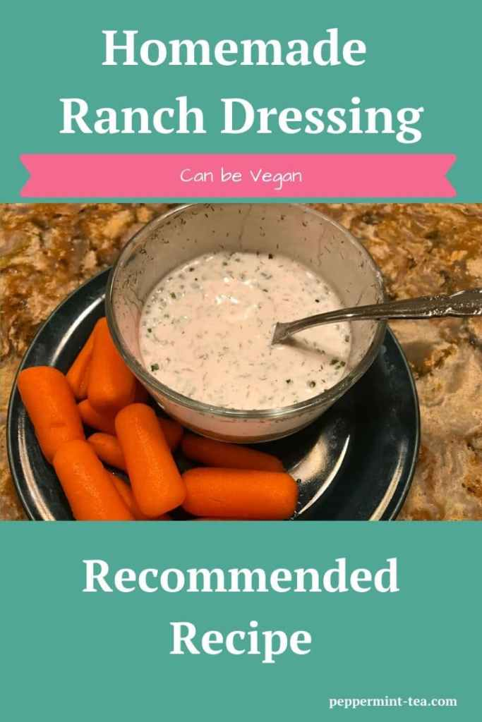 Homemade Ranch Dressing with Veggies