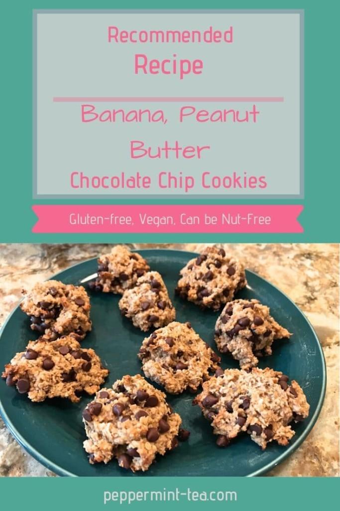 Gluten-Free, Vegan Banana Peanut Butter Chocolate Chip Cookies