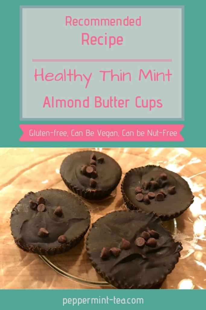 Healthy Thin Mint Almond Butter Cups