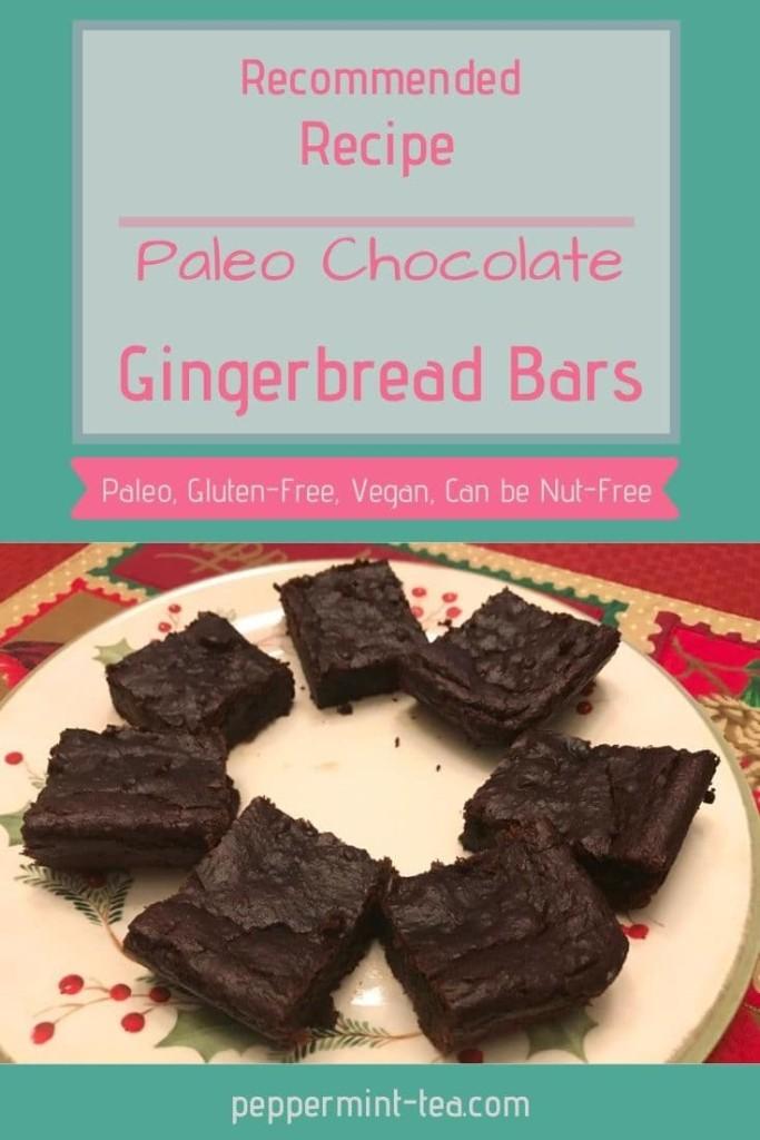 Paleo Chocolate Gingerbread Bars