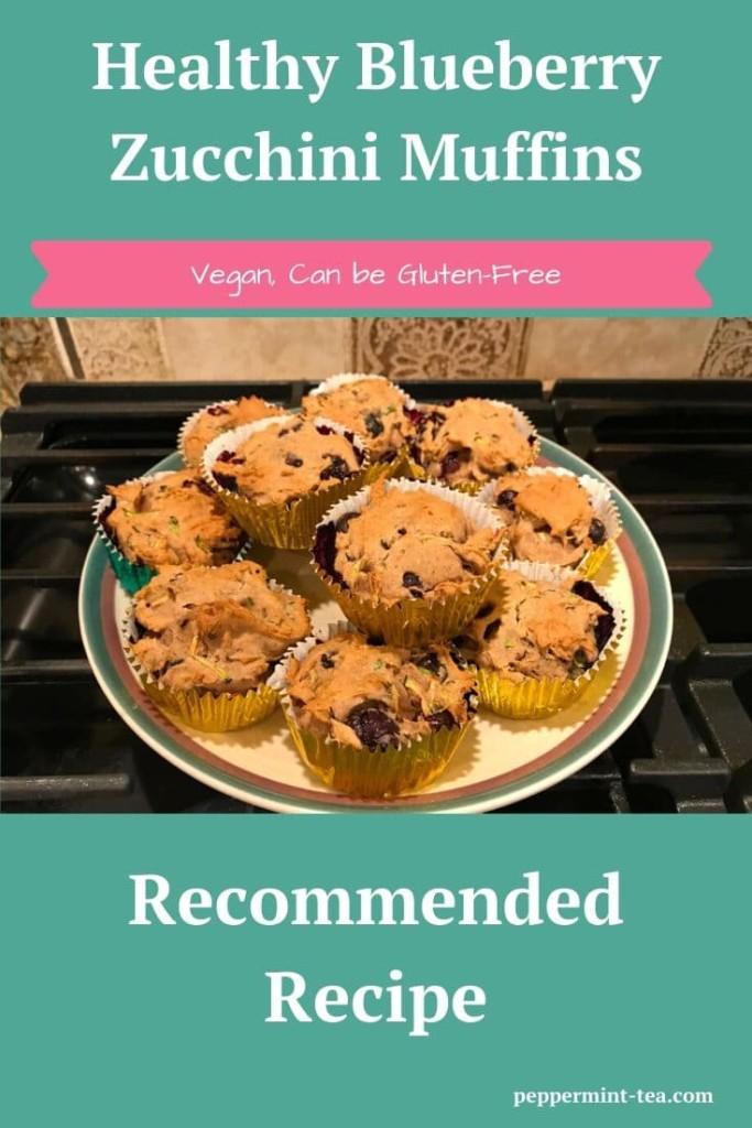 Healthy Blueberry Zucchini Muffins