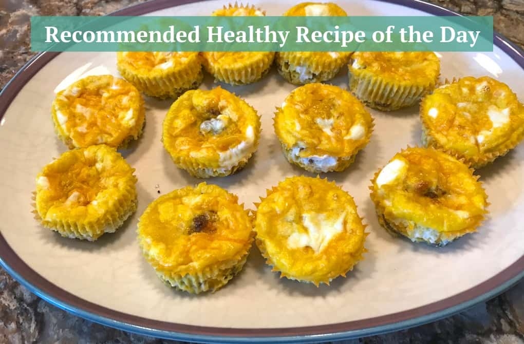 Mini Crustless Quiche Cups with Sausage and Cheese