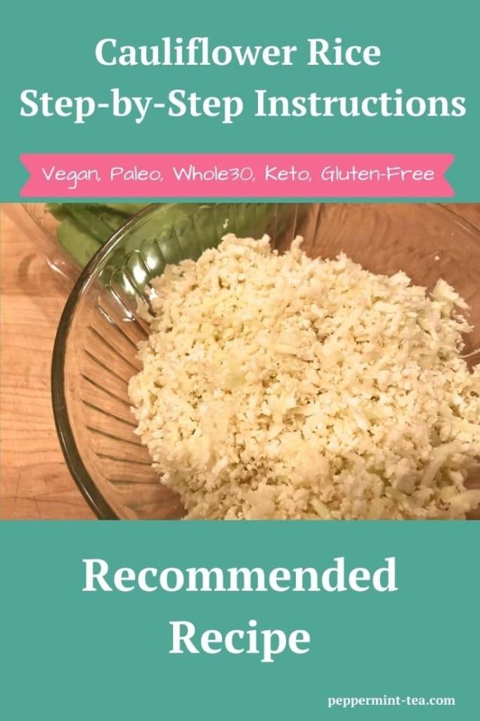 Cauliflower Rice Step-By-Step Instructions