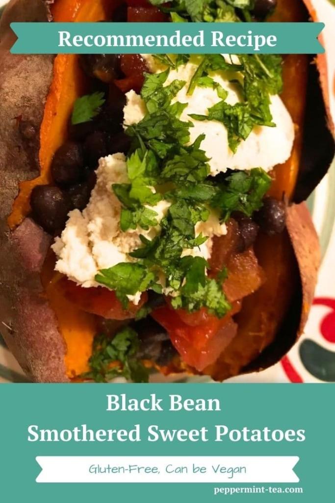 Black Bean Smothered Sweet Potatoes