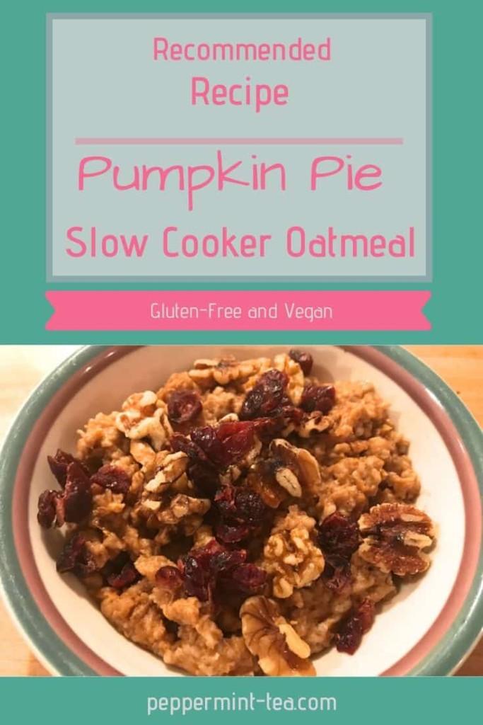 Pumpkin Pie Slow Cooker Oatmeal