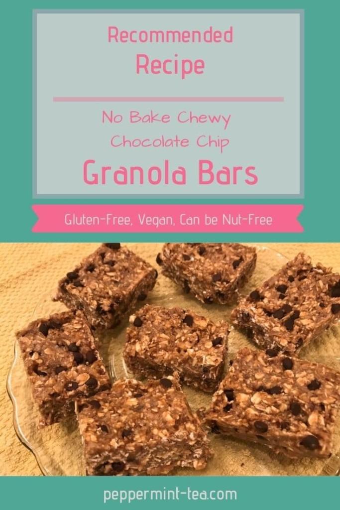 No Bake Chewy Chocolate Chip Granola Bars