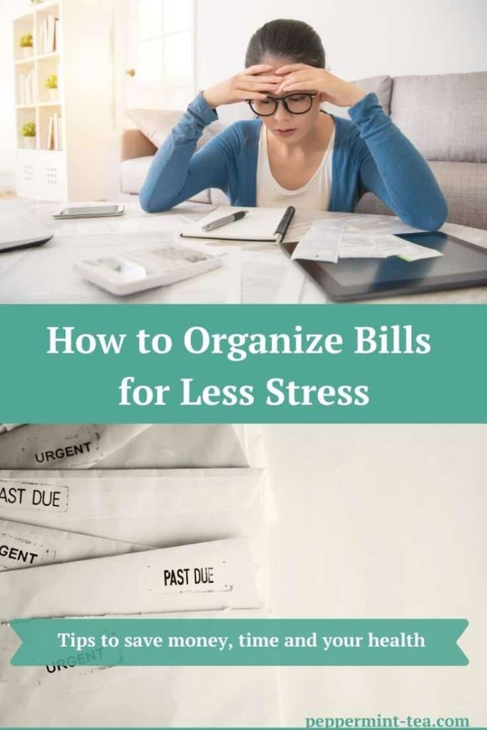 How to Organize Bills for Less Stress