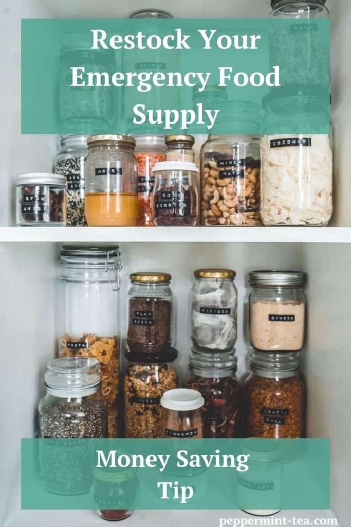 Money Saving Tip: Restock Your Emergency Food Supply