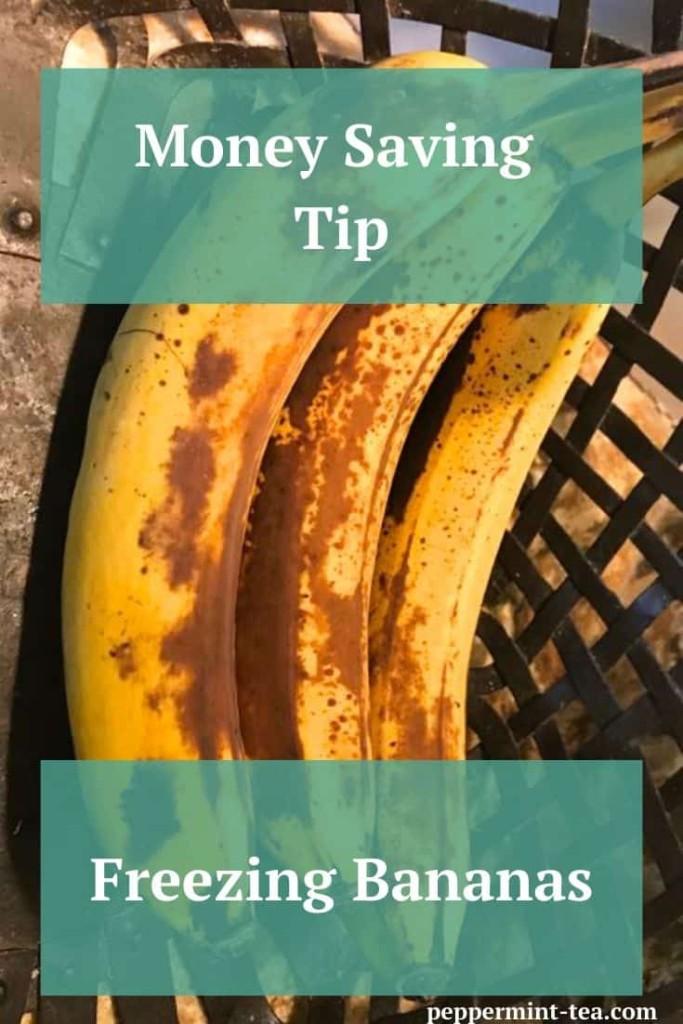 Money Saving Tip: Freezing Bananas